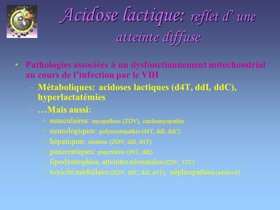Acidose lactique: reflet d' une atteinte diffuse