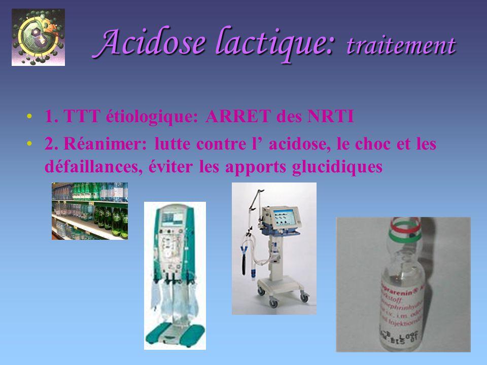 Acidose lactique: traitement