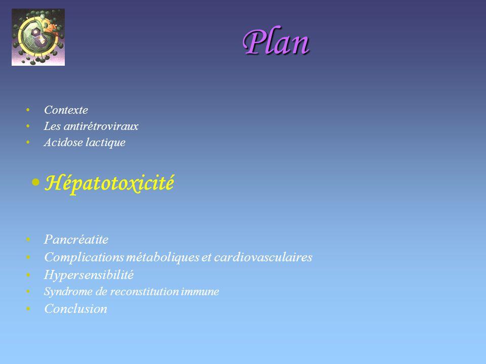 Plan Hépatotoxicité Pancréatite