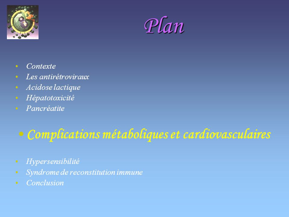 Plan Complications métaboliques et cardiovasculaires Contexte