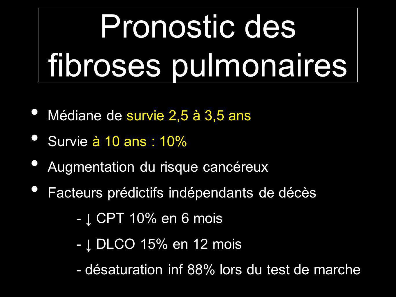 Pronostic des fibroses pulmonaires