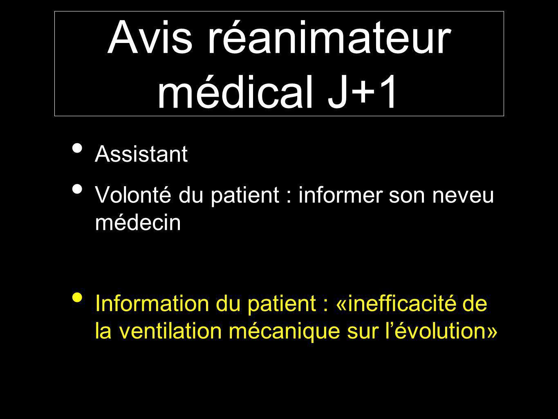 Avis réanimateur médical J+1