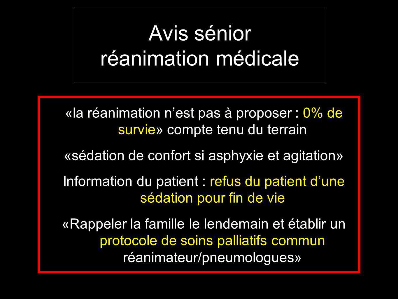 Avis sénior réanimation médicale
