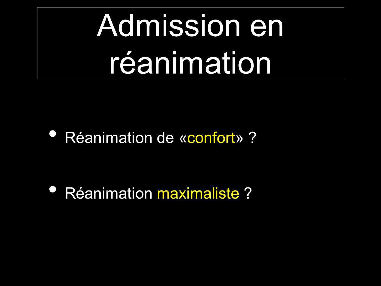 Admission en réanimation