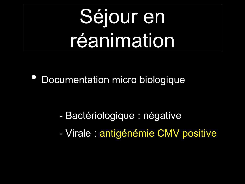 Séjour en réanimation Documentation micro biologique