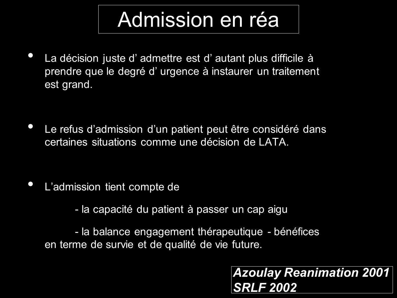 Azoulay Reanimation 2001 SRLF 2002