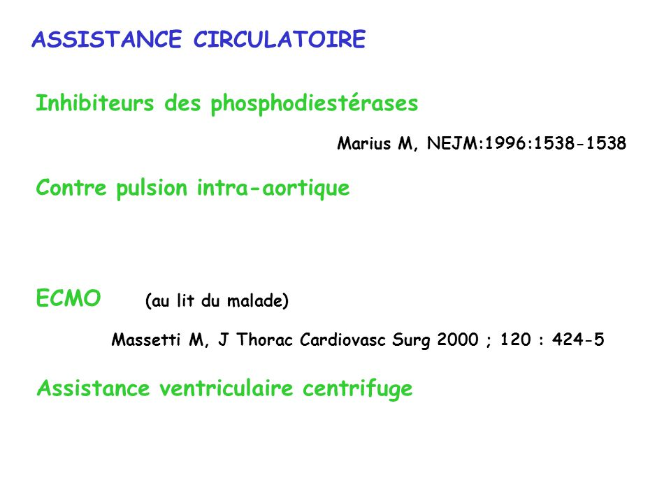 ASSISTANCE CIRCULATOIRE