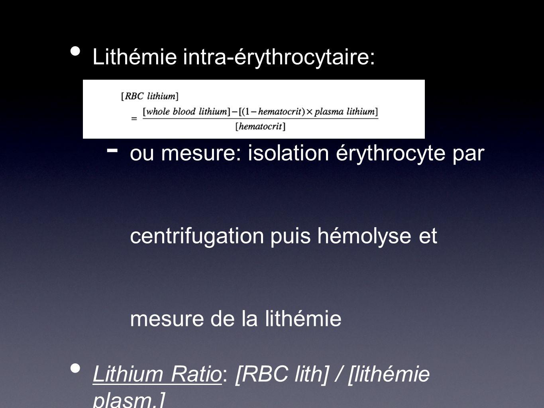 Lithémie intra-érythrocytaire: