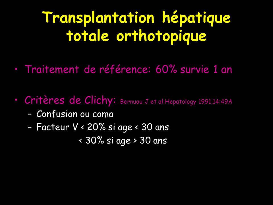 Transplantation hépatique totale orthotopique
