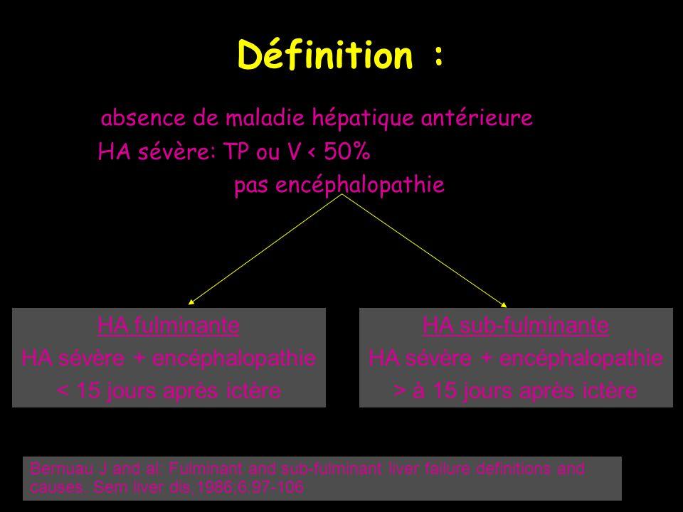 Définition : absence de maladie hépatique antérieure