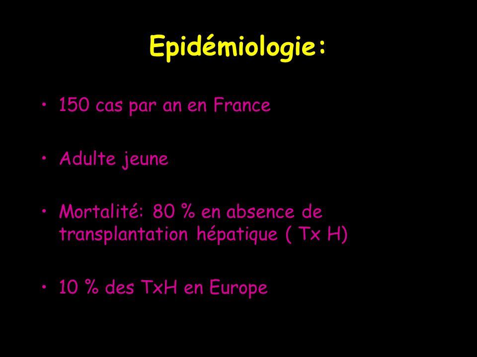 Epidémiologie: 150 cas par an en France Adulte jeune