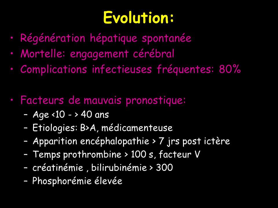 Evolution: Régénération hépatique spontanée