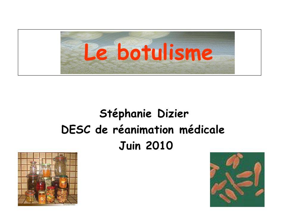 Stéphanie Dizier DESC de réanimation médicale Juin 2010