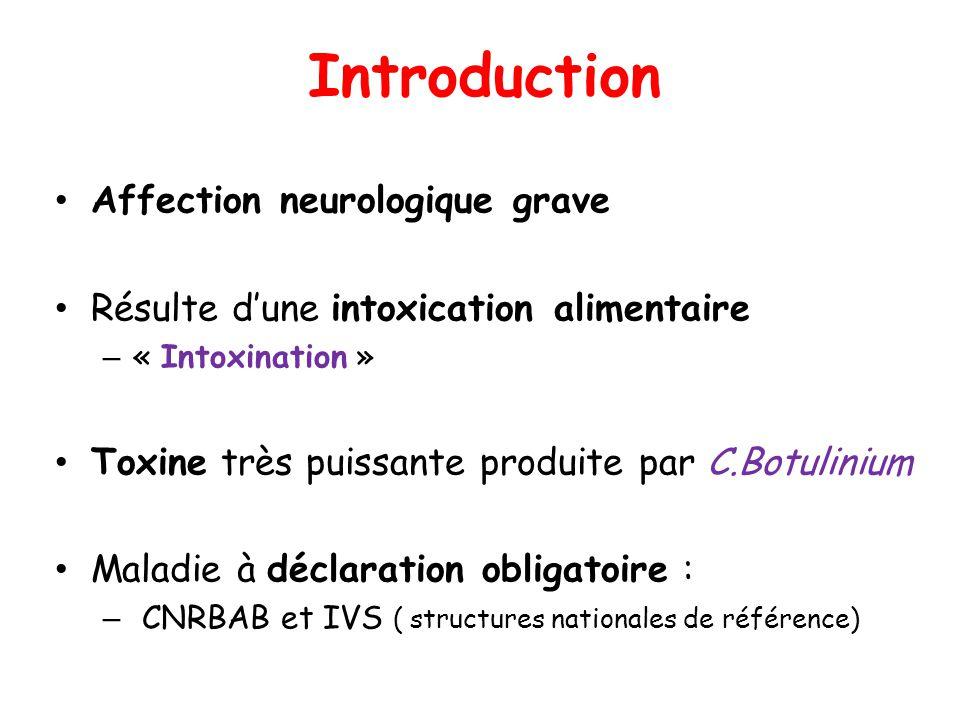 Introduction Affection neurologique grave