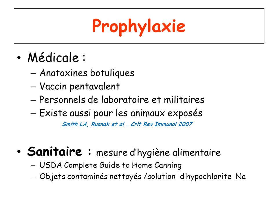 Prophylaxie Médicale : Sanitaire : mesure d'hygiène alimentaire