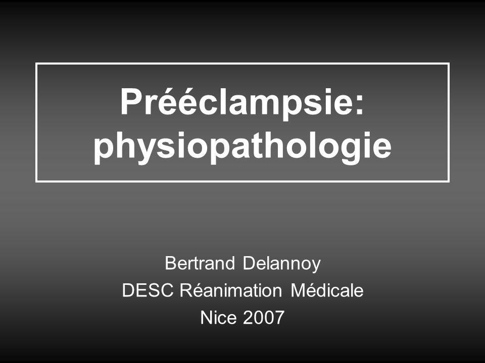 Prééclampsie: physiopathologie