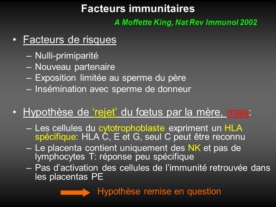 Facteurs immunitaires A Moffette King, Nat Rev Immunol 2002