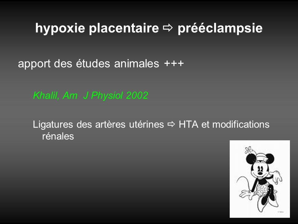 hypoxie placentaire  prééclampsie