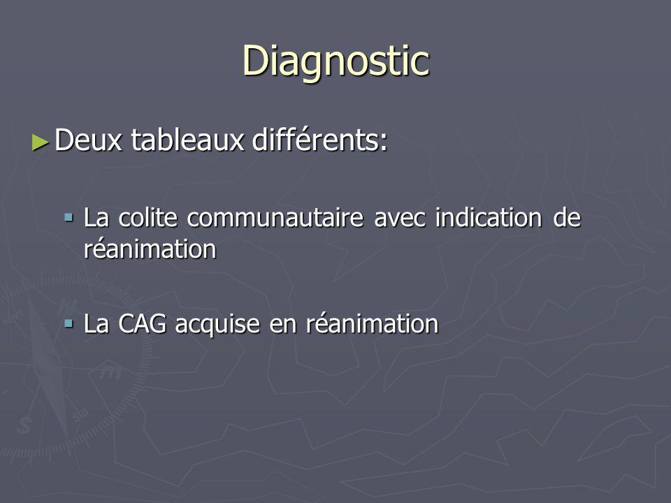 Diagnostic Deux tableaux différents: