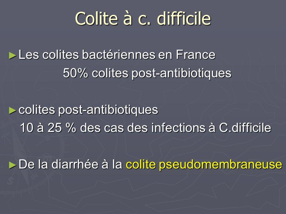 Colite à c. difficile Les colites bactériennes en France