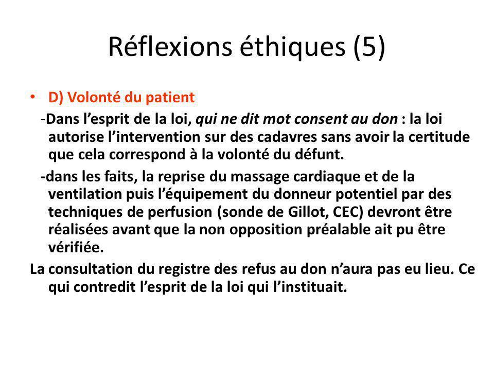 Réflexions éthiques (5)