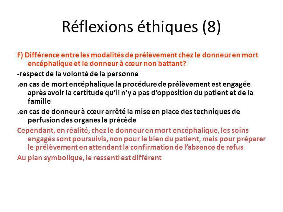 Réflexions éthiques (8)