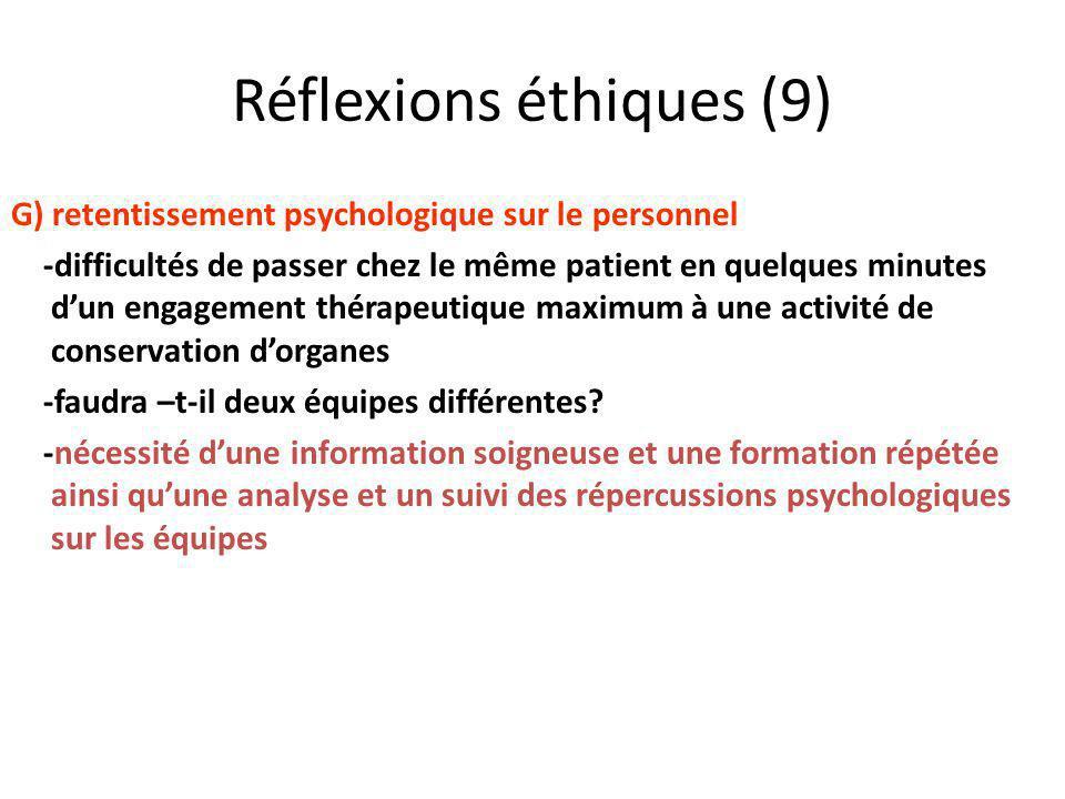 Réflexions éthiques (9)