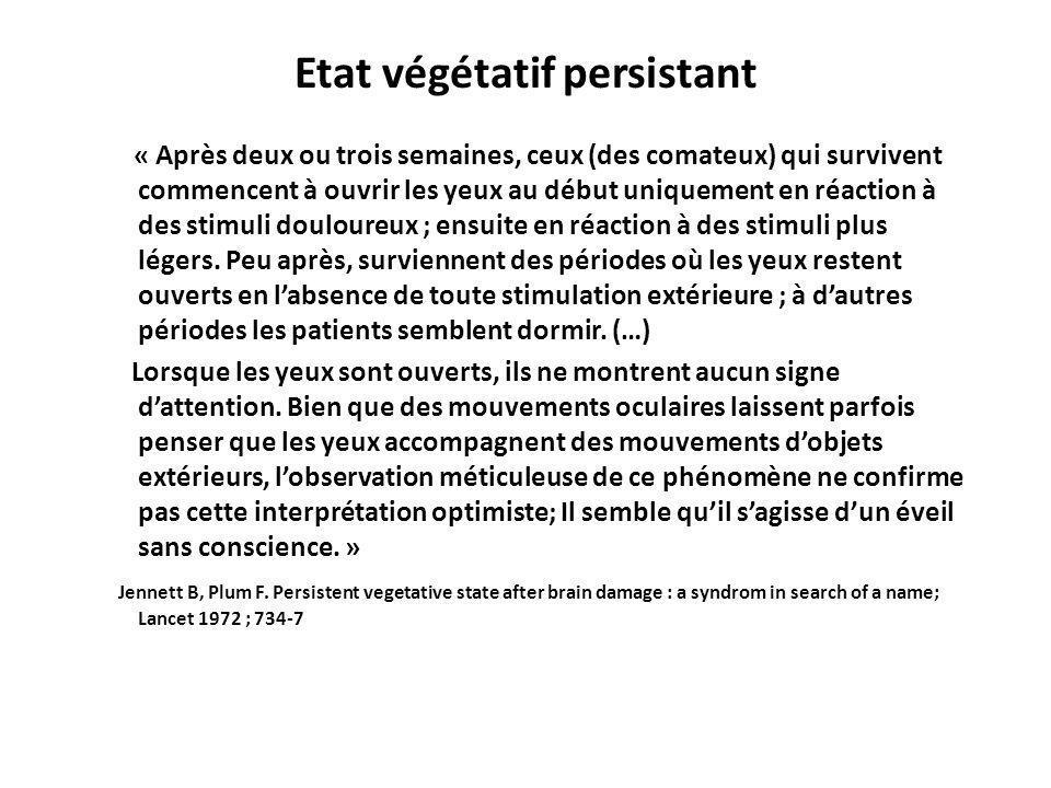 Etat végétatif persistant