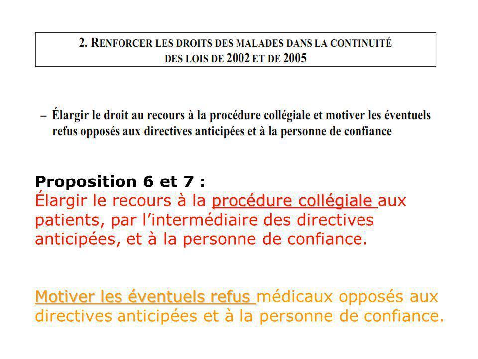 Proposition 6 et 7 :