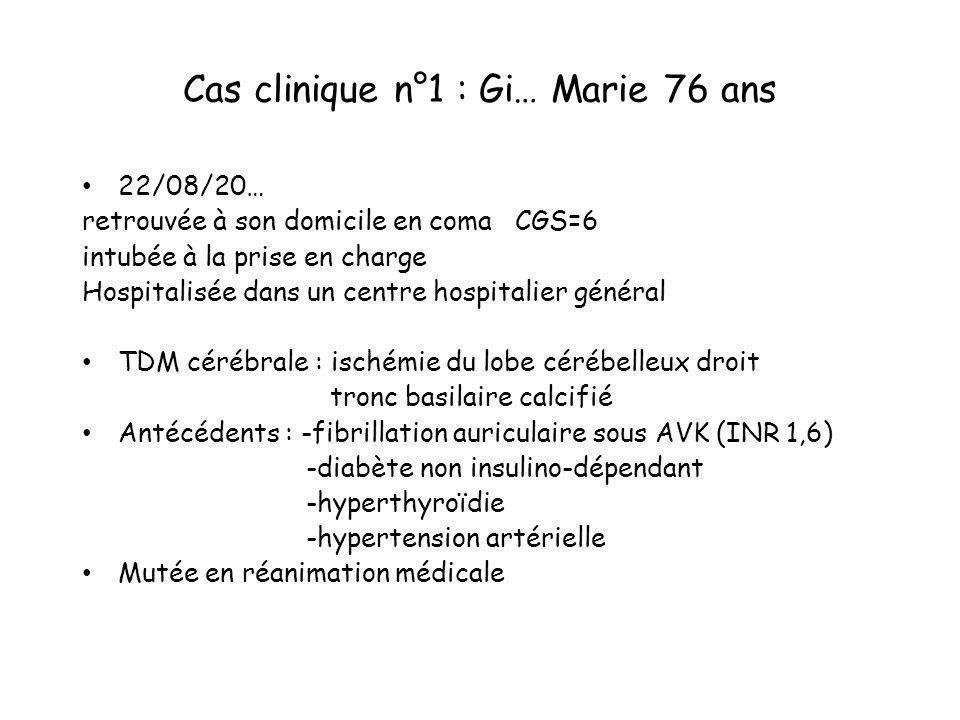 Cas clinique n°1 : Gi… Marie 76 ans