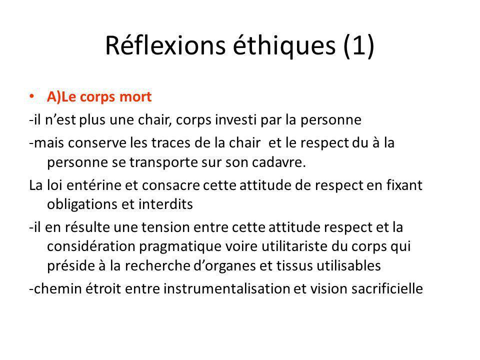 Réflexions éthiques (1)