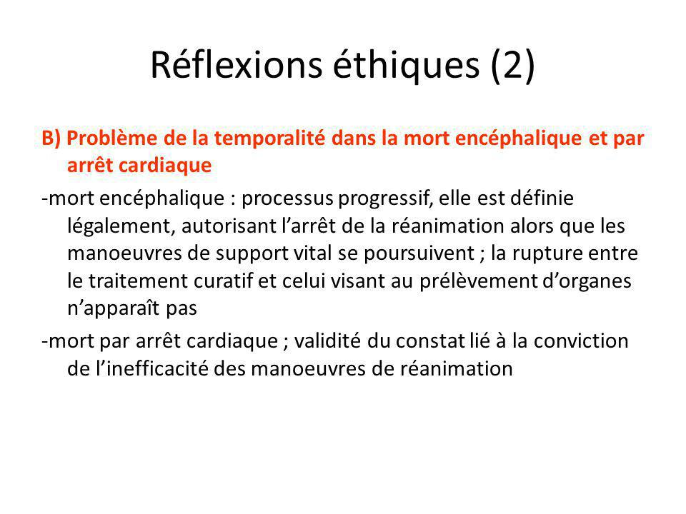 Réflexions éthiques (2)