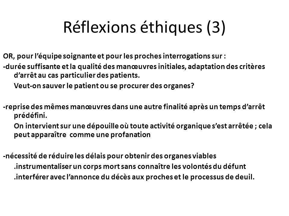 Réflexions éthiques (3)