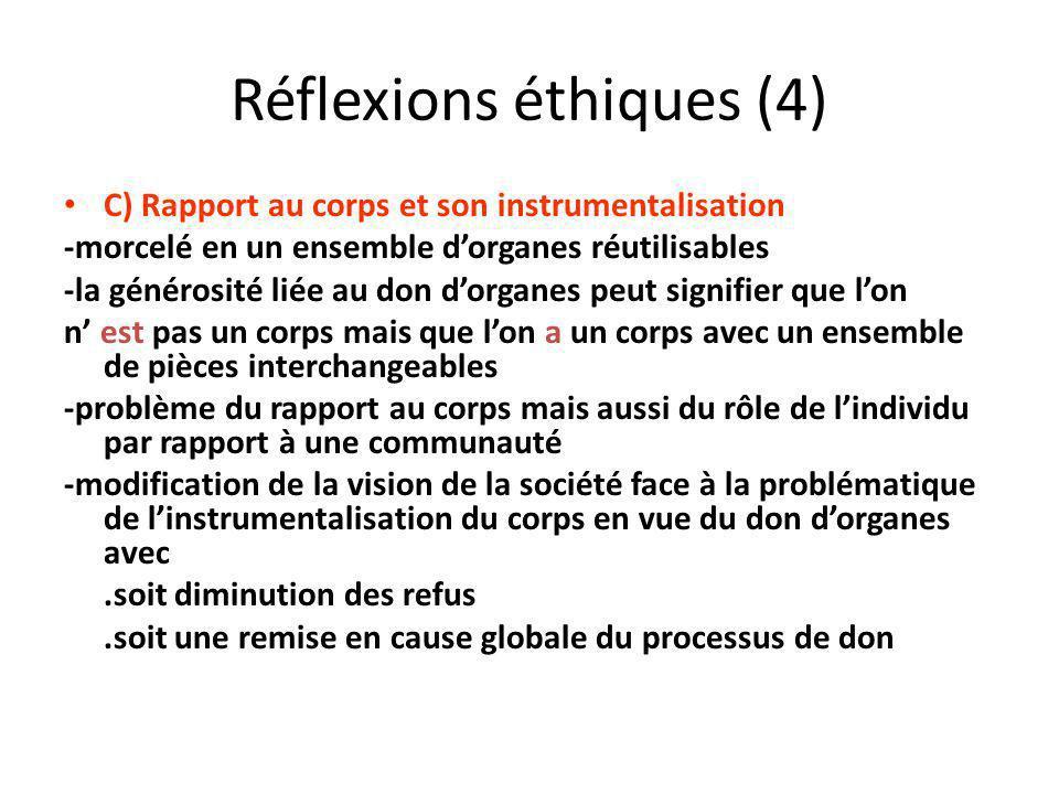 Réflexions éthiques (4)