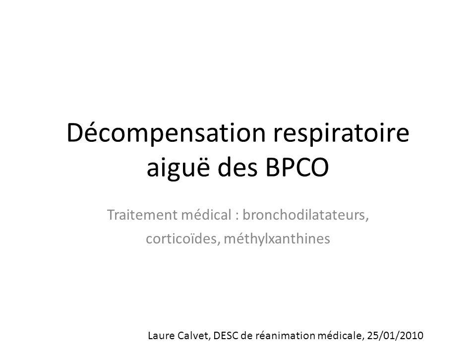 Décompensation respiratoire aiguë des BPCO