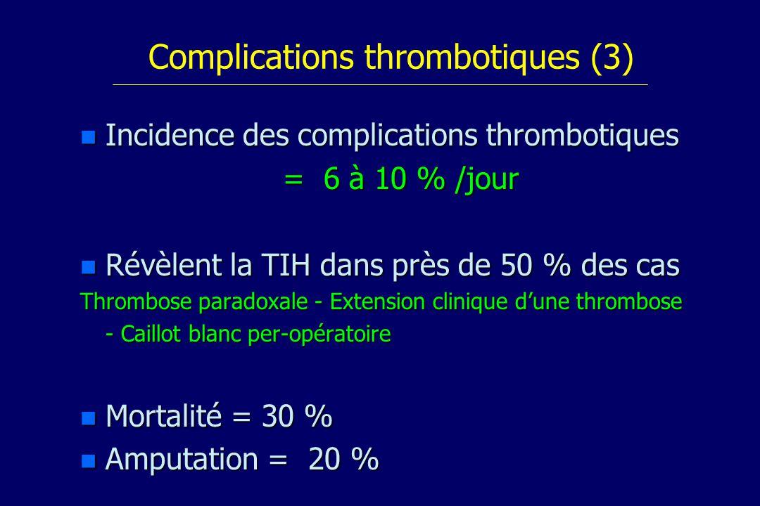 Complications thrombotiques (3)