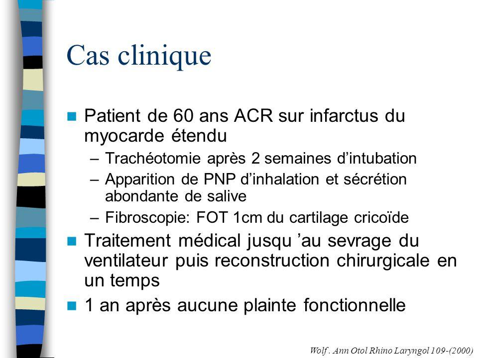 Cas clinique Patient de 60 ans ACR sur infarctus du myocarde étendu
