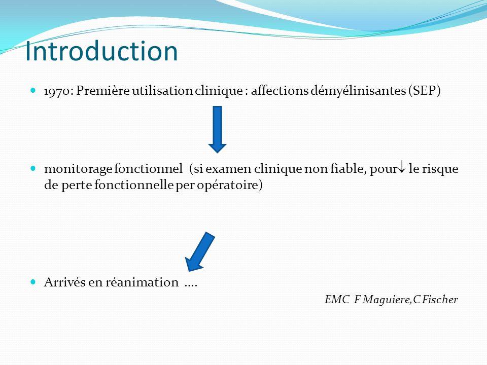Introduction 1970: Première utilisation clinique : affections démyélinisantes (SEP)