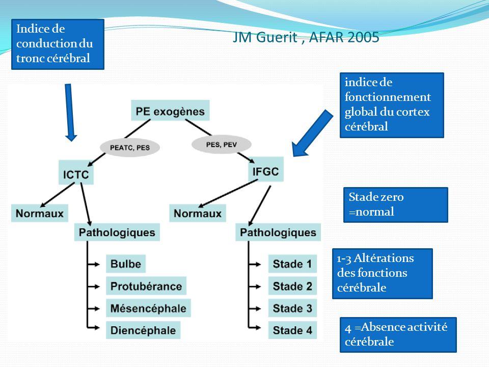 JM Guerit , AFAR 2005 Indice de conduction du tronc cérébral