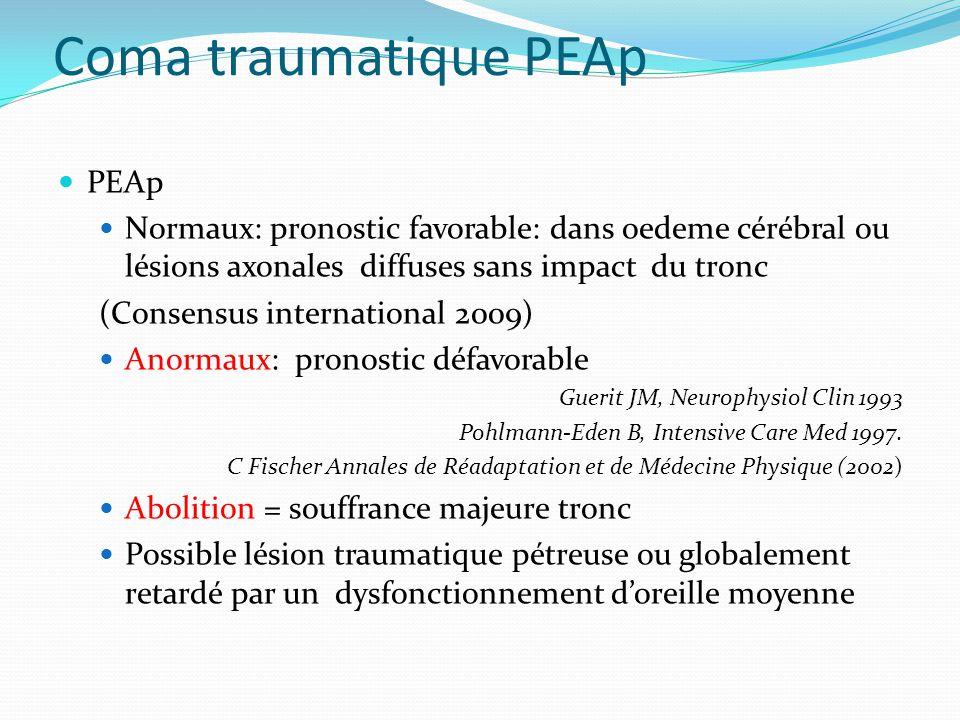 Coma traumatique PEAp PEAp