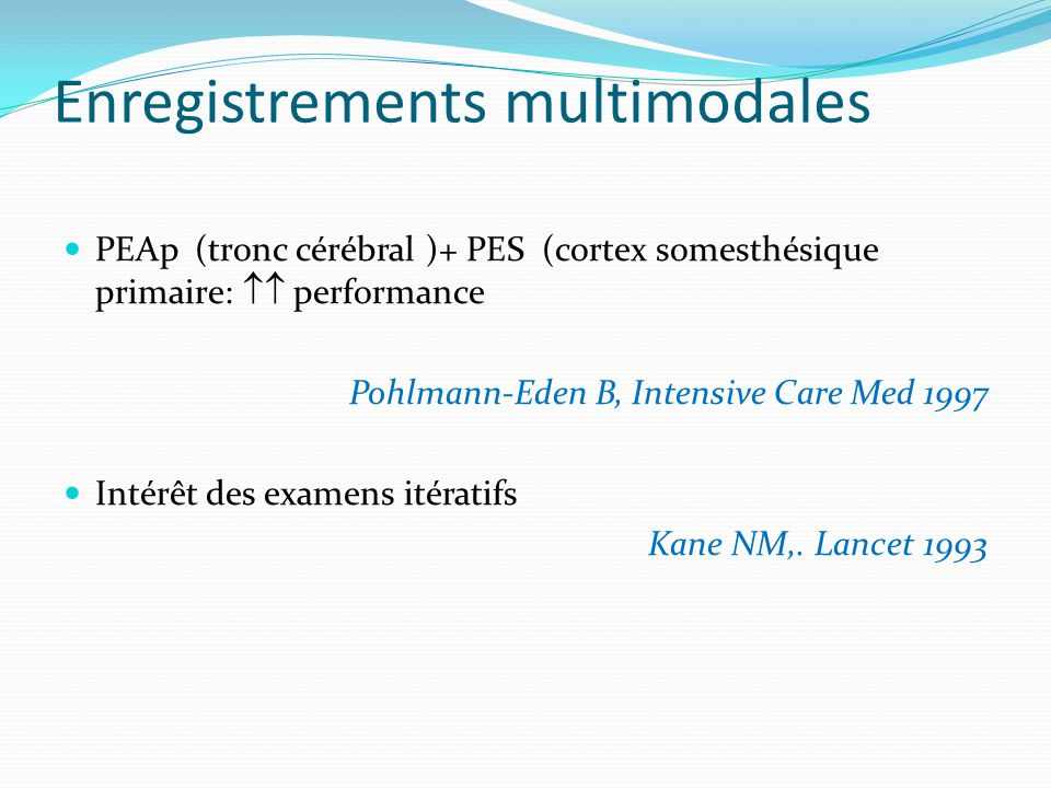 Enregistrements multimodales