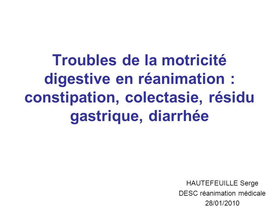 HAUTEFEUILLE Serge DESC réanimation médicale 28/01/2010