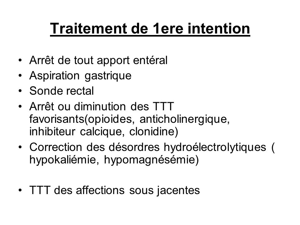 Traitement de 1ere intention