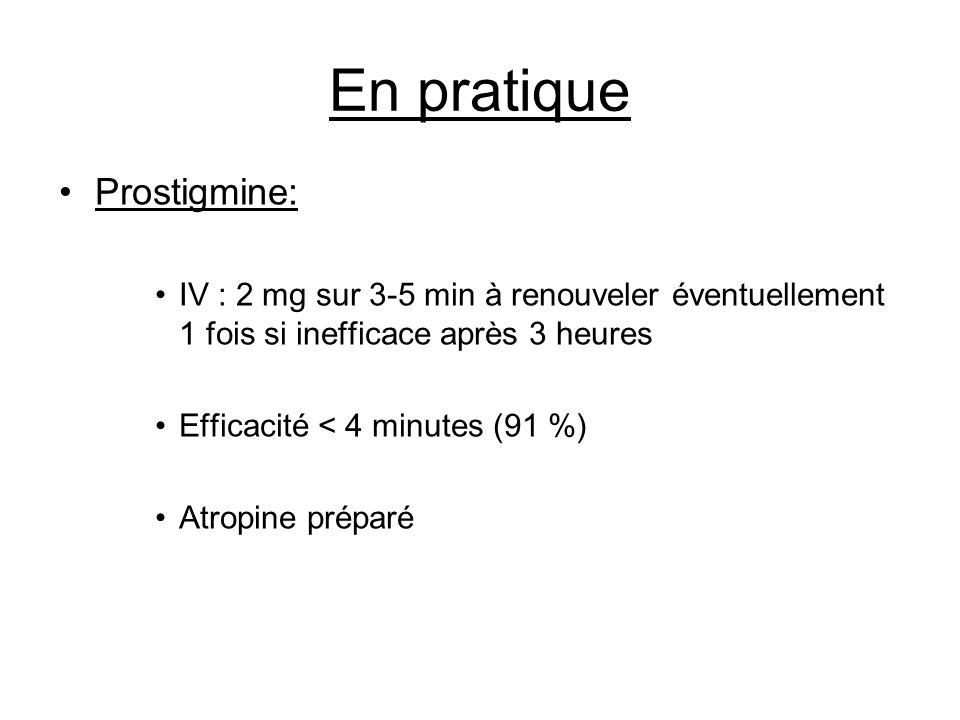 En pratique Prostigmine: