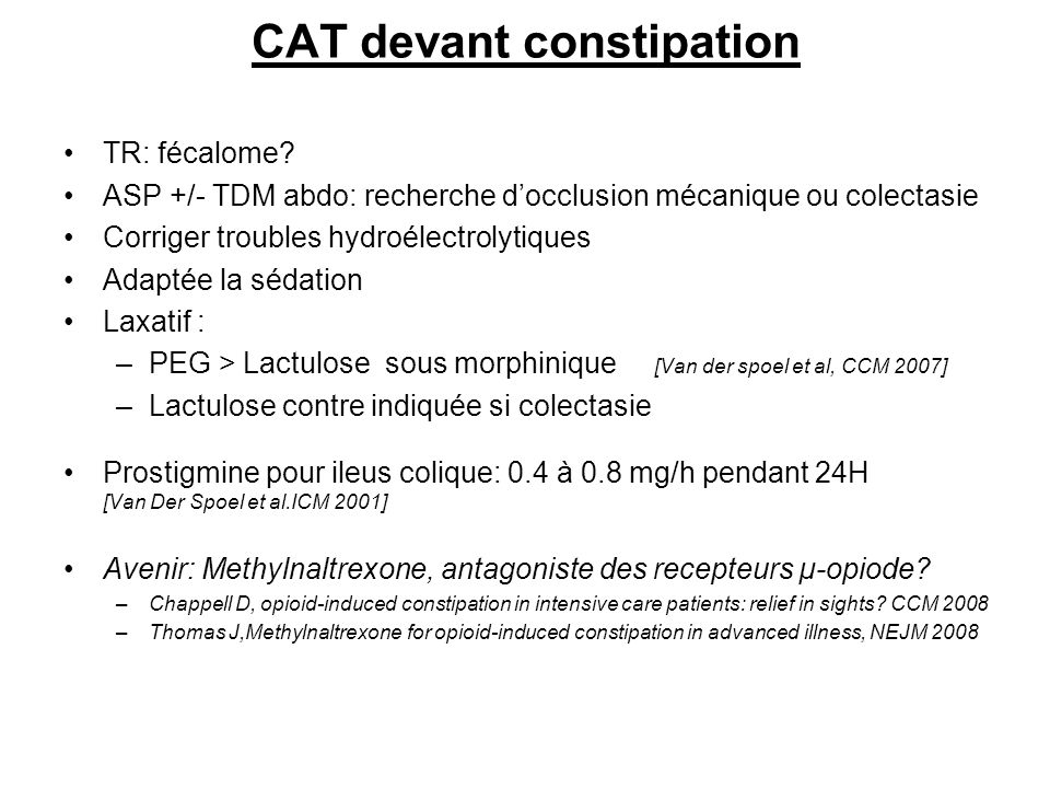 CAT devant constipation