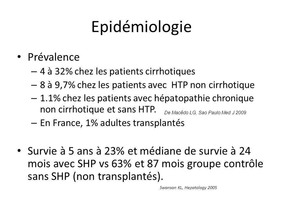 Epidémiologie Prévalence