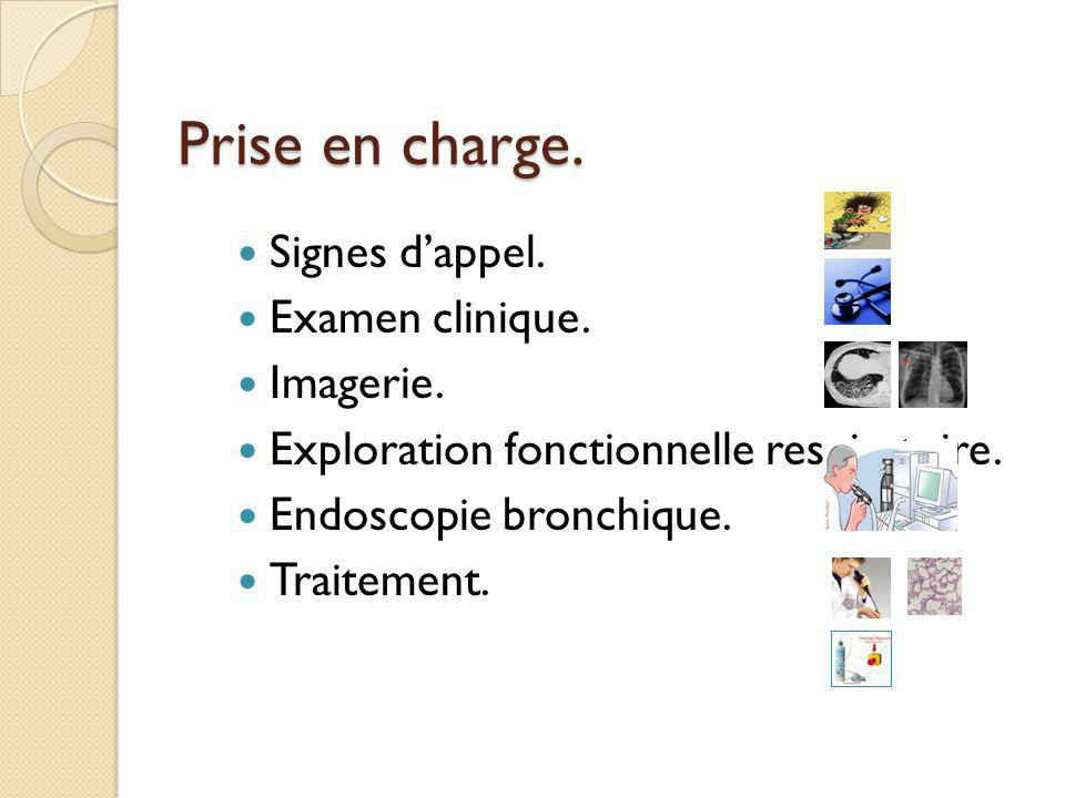 Prise en charge. Signes d'appel. Examen clinique. Imagerie.