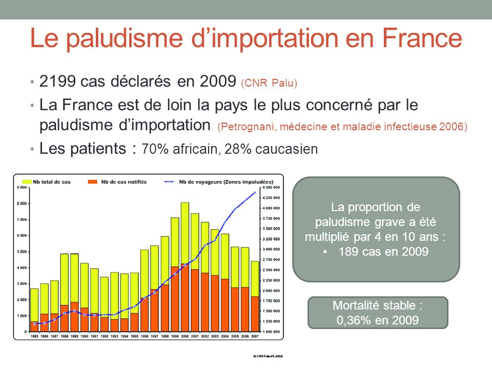 Le paludisme d'importation en France
