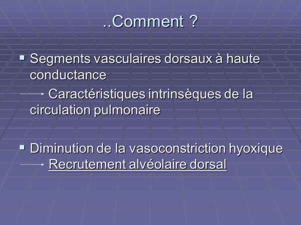 ..Comment Segments vasculaires dorsaux à haute conductance