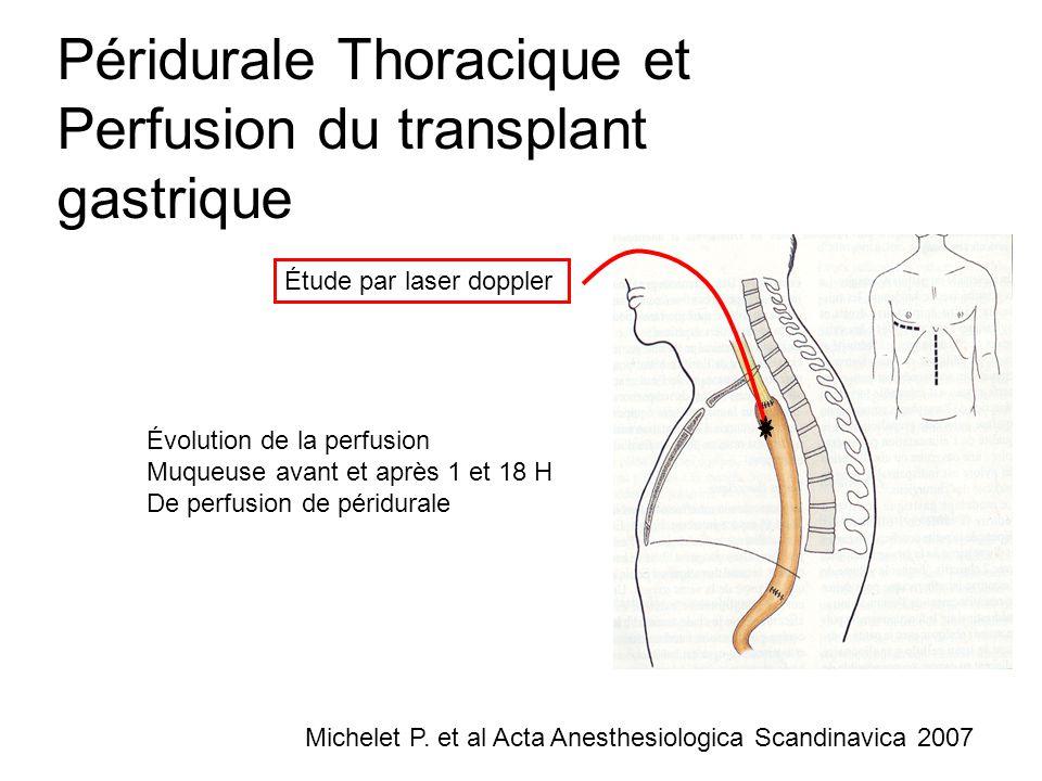 Péridurale Thoracique et Perfusion du transplant gastrique